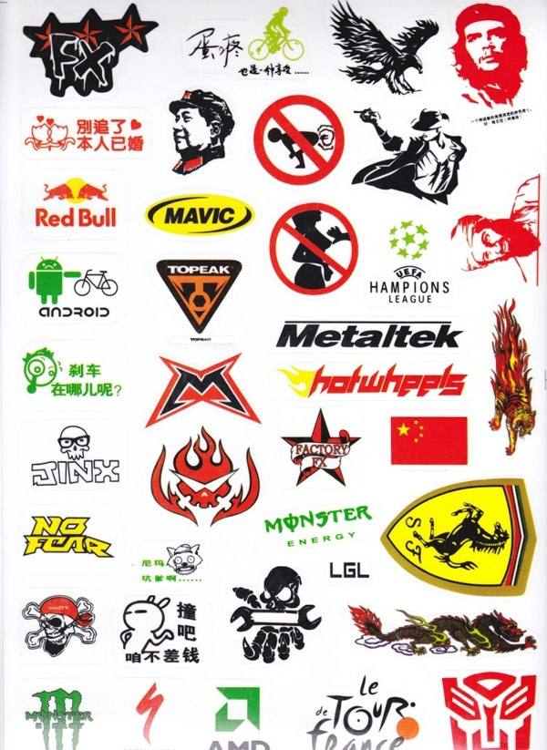 1Set/3Pcs Hot Outdoor Bicycle Cycling Sticker Mountain ...