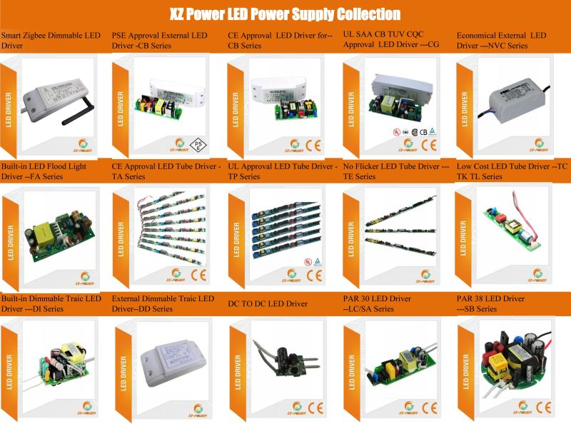 XZ-TP12B 300ma Isolated CE UL Tube 70w led driver