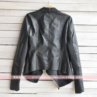 Женская одежда из кожи и замши leather clothing female short design slim coat PU leather jacket women/ WT4057