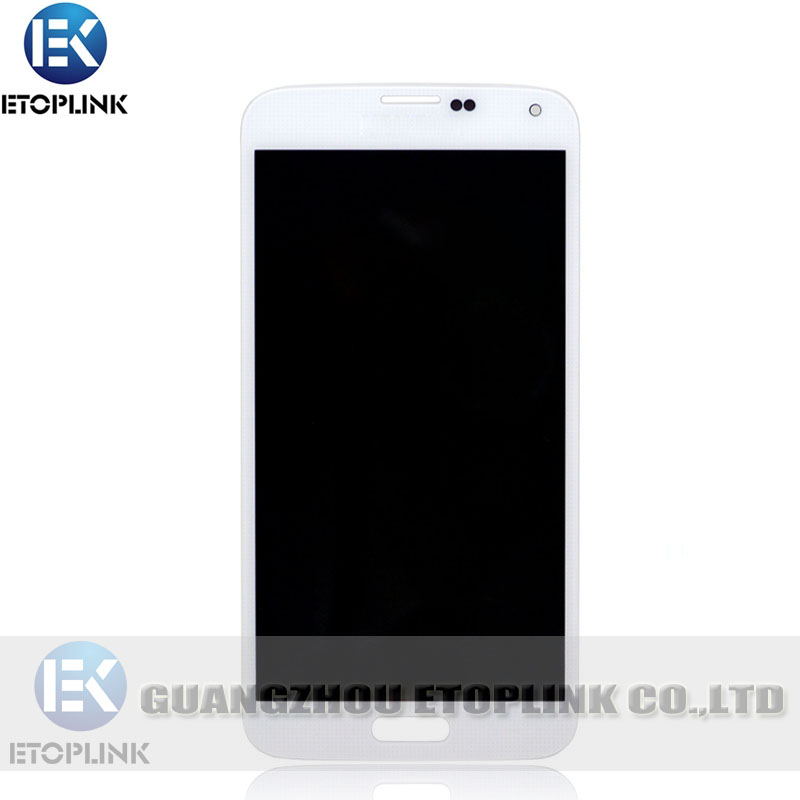 wholesale mobile phone parts replacement lcd for samsung galaxy s5 lcd i9600 screen digitizer assembly