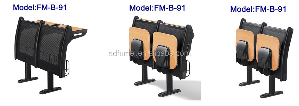 FM-B-93 Elegant college classroom folding chair with desk attached