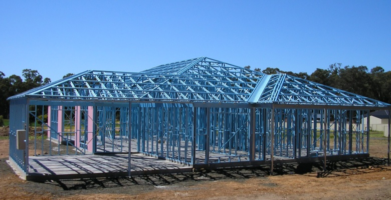Easy install steel shade structure buy steel shade for Structural steel home designs