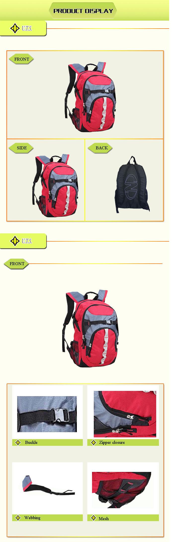 custom bright color life kids school backpack