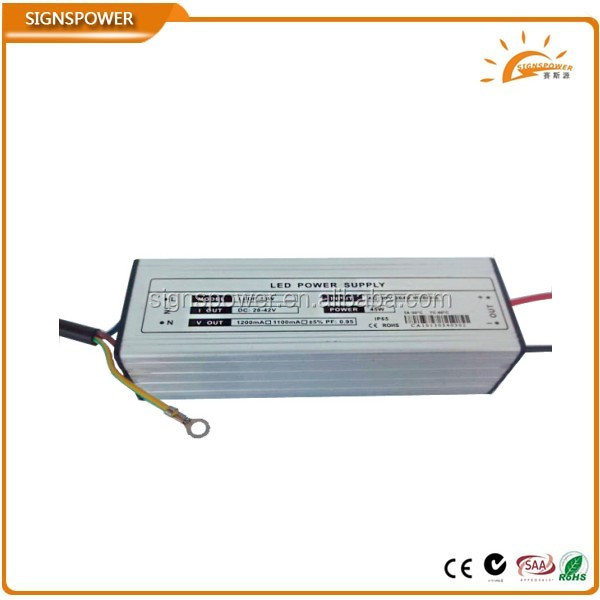 constant current waterproof 70w led driver 2100mA with ce rohs saa ctick approved