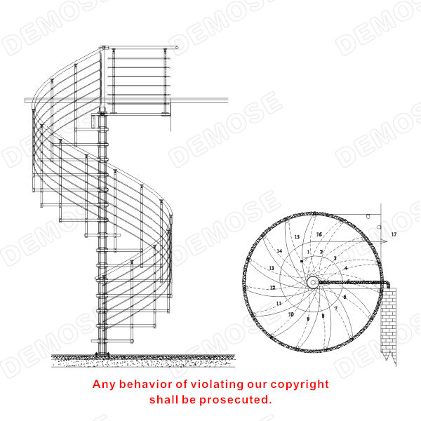 Used Spiral Staircase Spiral Stairs Curved Staircase