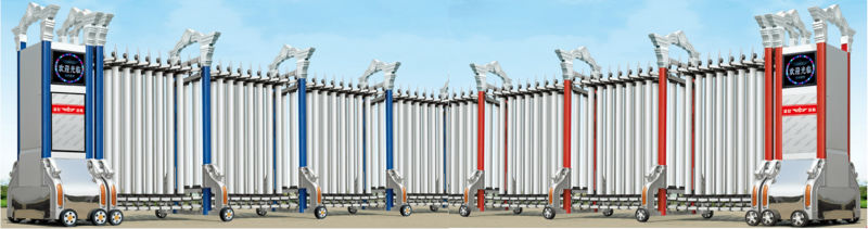 Industrial Retractable Gates : New main gate design automatic industrial retractable