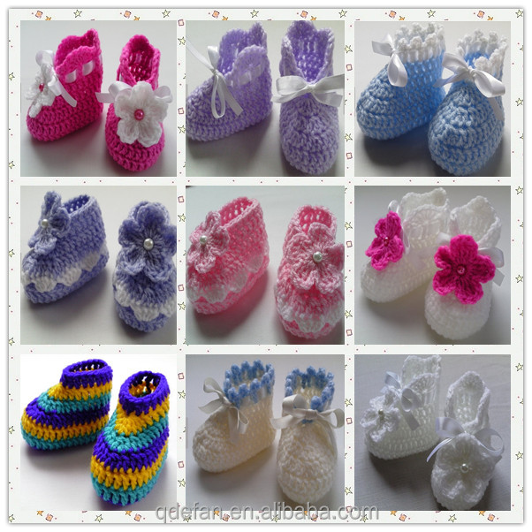 Infant Size Newborn Baby Shoes Crochet Baby Booties Buy Crochet Baby ...
