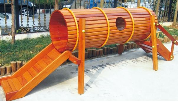 Playground balance beam kids wooden swing bridge children for Wooden swing set with bridge
