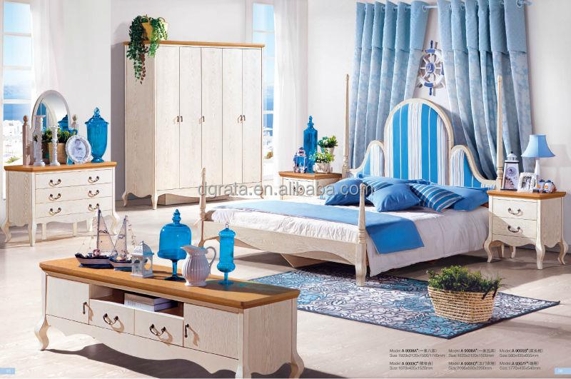 최신 2014 지중해 스타일의 침실 가구 의해 이루어집니다 단단한 ...