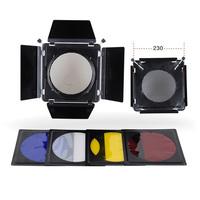новые металлические elinchrom двери сарая фильтр комплекты для elinchrom Стандартный рефлектор 230 мм e0231a alishow