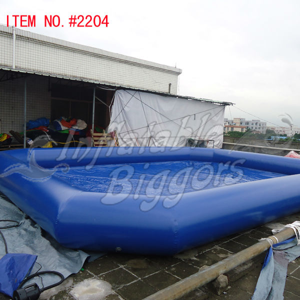 commercial blue large inflatable swimming pool inflatable