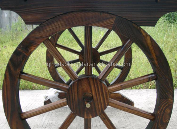 Cart Wheel Bench Garden Wheel Bench