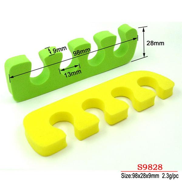 Esmalte de uñas del dedo del pie separadores/espuma separador del ...