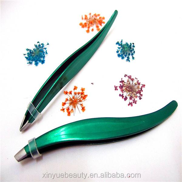 Wholesale Professional Simple Eyebrow Slanted Tweezers