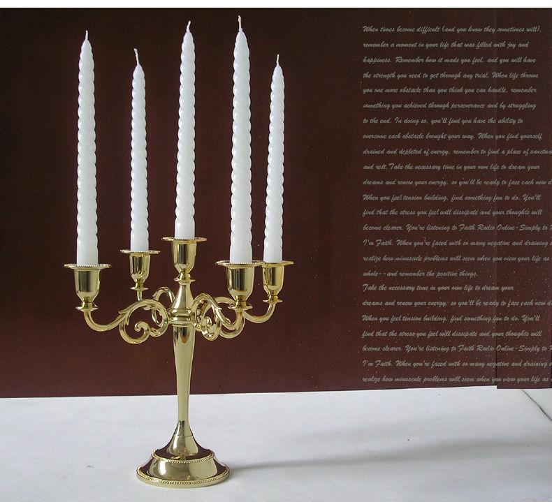 Wholesale metal silver gold light centerpiece candelabra