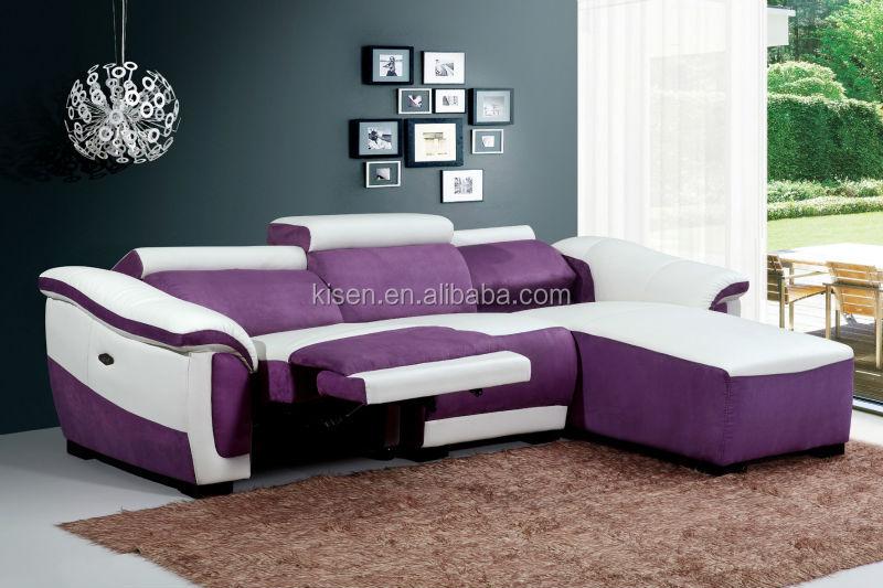 möbelstoff Halbkreis sofa lila sofa km8085-Wohnzimmer Sofa-Produkt ...