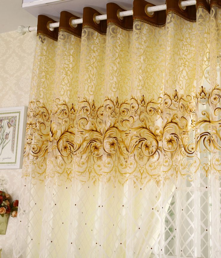 Beige color curtains