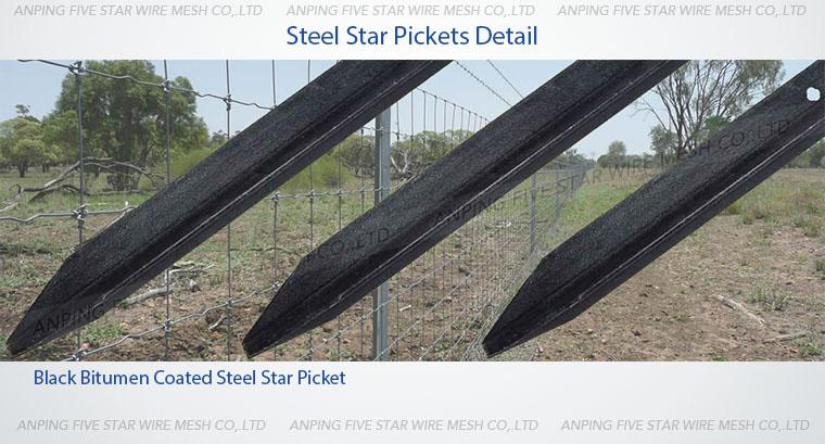 Kg m black bitumen coated y star picket mm buy