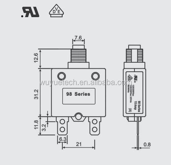 new type wuyue 98 series circuit breaker manual type  replace the kuoyuh circuit breaker manual