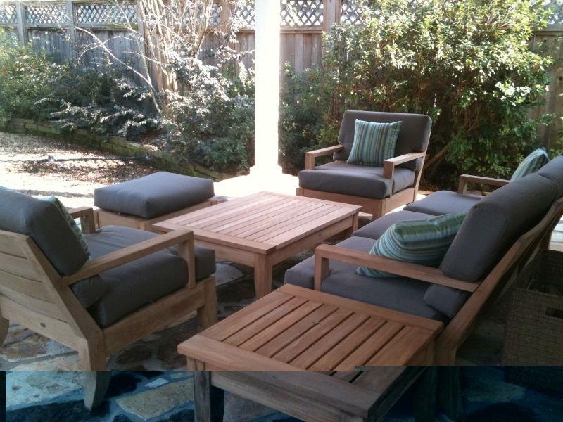 outdoor-holz im garten terrasse sofa lounge-sessel gesetzt-set im, Garten und Bauen