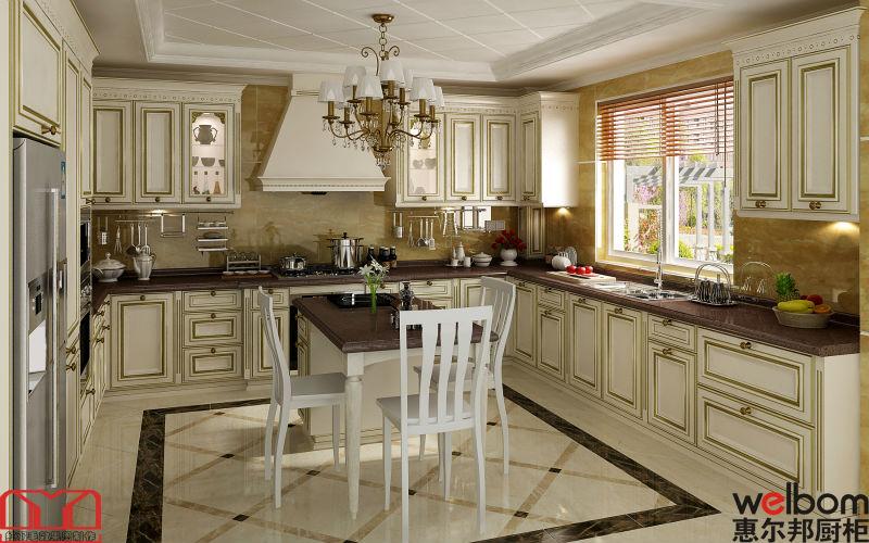 Europ enne style classique en bois conception d 39 armoires for Deco cuisine classique