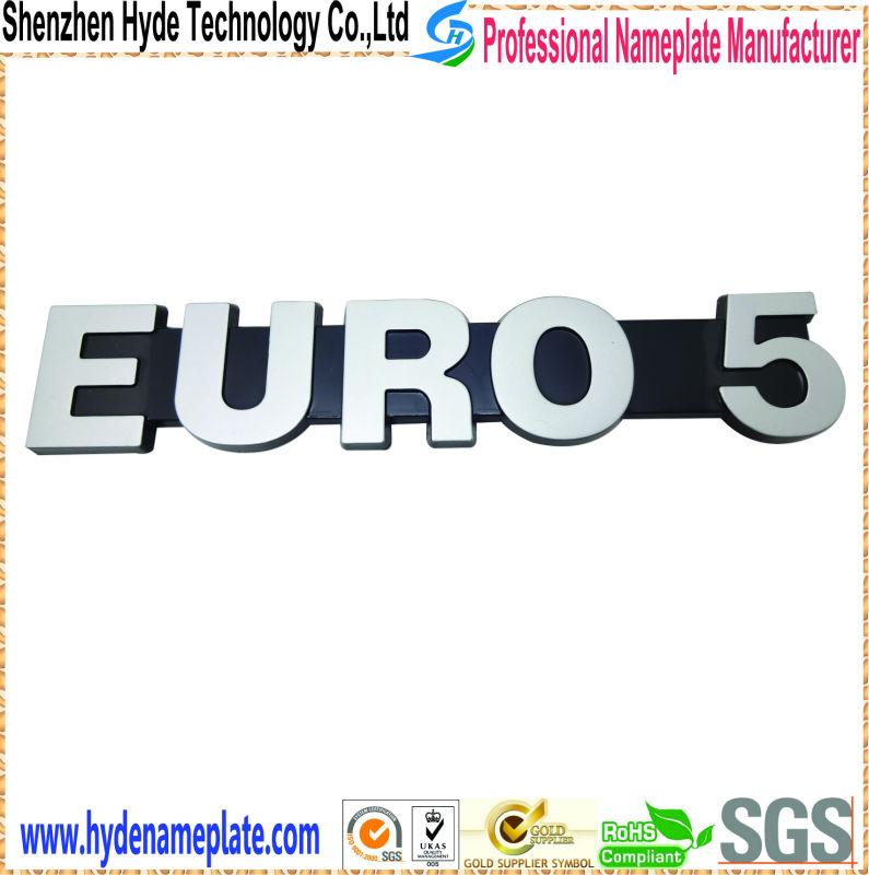 2014 Customized Car Emblem Electroplating Car Logo 3d Name Logo