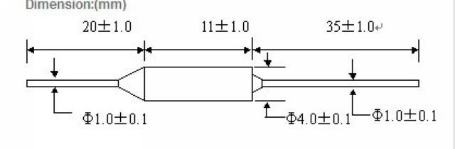 5PCS Aupo Thermal Fuse TF Cutoff 84℃ 250V 10A BF84