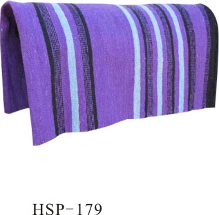 13mm Violet Coton Cheval Selle Western Pad Pour Cheval