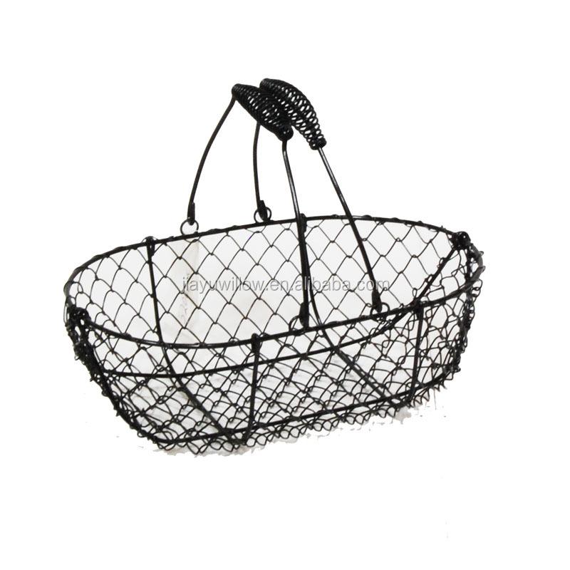 Black Wire Mesh Basket Stainless Steel Wire Mesh Baskets Wire ...