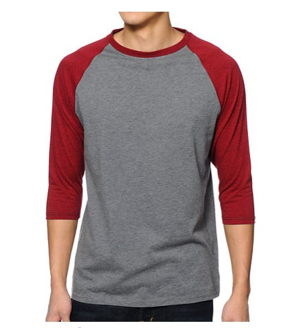 Custom raglan sleeve baseball t shirt 3 4 sleeve plain for Custom raglan baseball shirt