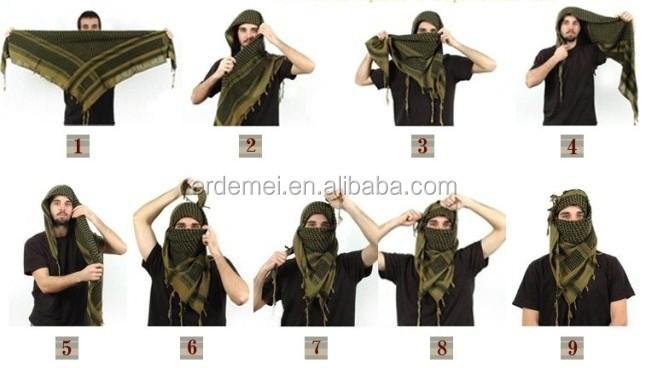 Bufanda árabe shemagh bufanda bufanda del desierto