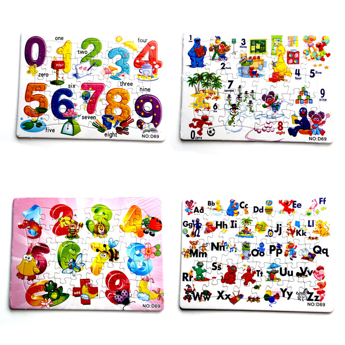40 Pieces Colorful Fashion Printable Jigsaw Puzzle Paper
