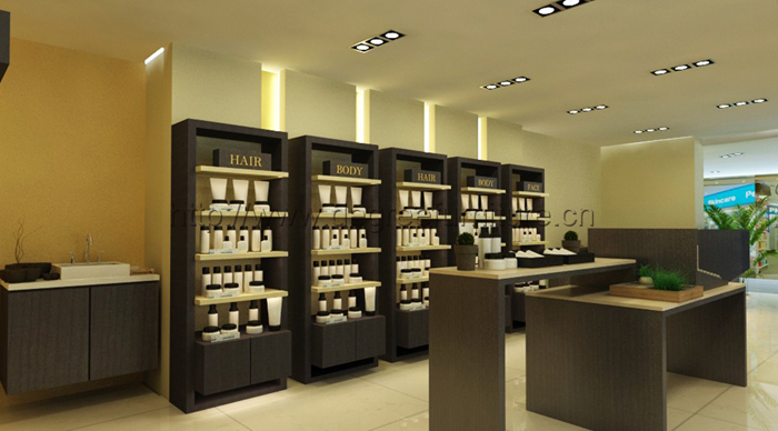 Stylish home design ideas modern cosmetics shop interior for Modern showroom exterior design