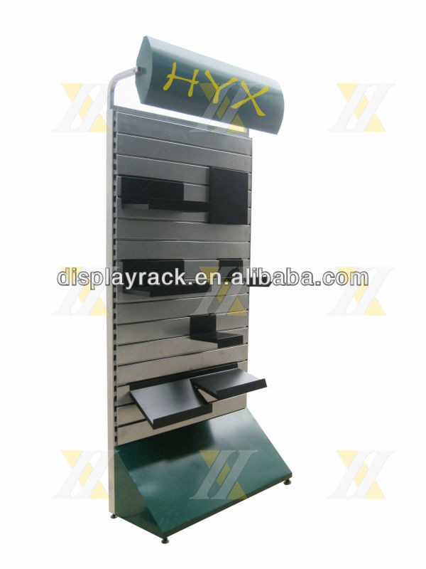 Exhibition Stand Weight : Fitness equipment display stand metal back slat wall