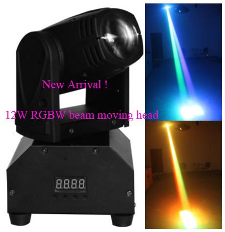 Купить Ace новый! 12 Вт из светодиодов перемещение луча 11 / 13CH RGBW перемещение головы из светодиодов dj свет перемещение головы луч профессиональной сцене освещение