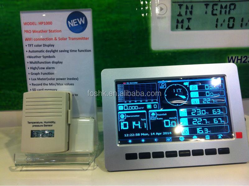 professionnels weather station wifi high tech station. Black Bedroom Furniture Sets. Home Design Ideas