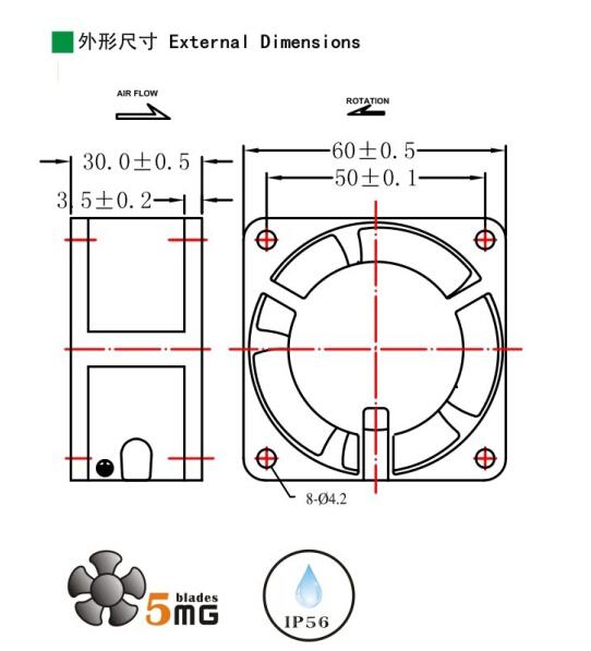 2 5 inch high air flow ac air conditioner fan motor 230v