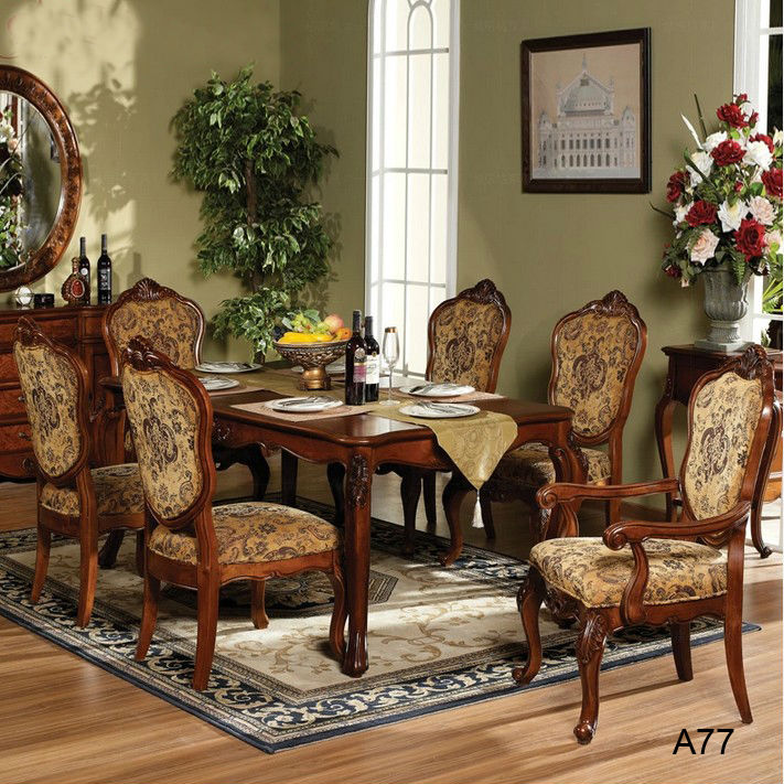 A77.jpg . - Antique Style Solid Wood Dining Table Set Price And Chair On Sell
