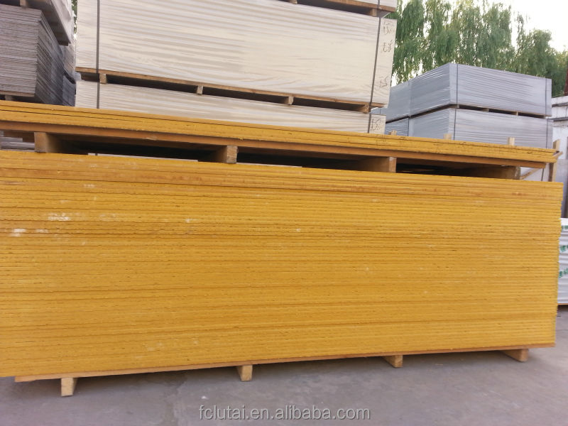 Yellow Gypsum Board : Medium density non asbestos colored fiber cement board