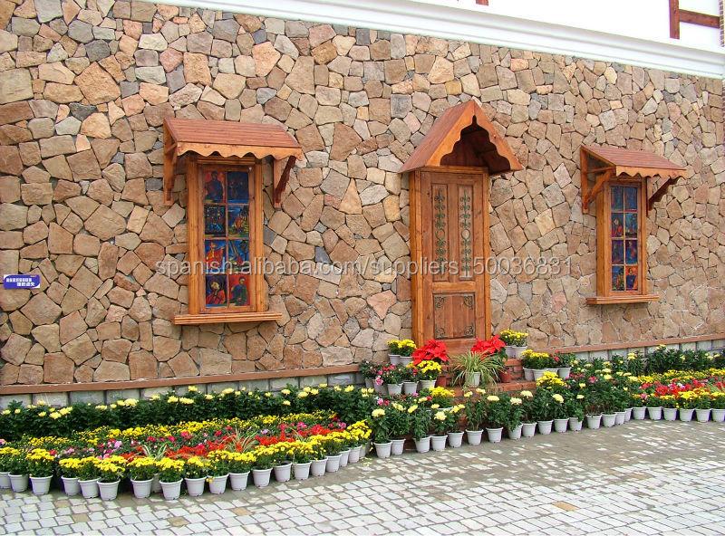 De fachadas imitacion piedra decoracin cermica con piezas for Imitacion piedra para fachadas