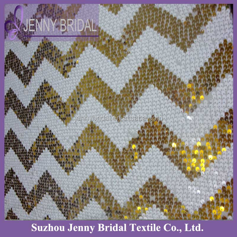 sqn70e1 zig zag white and gold chevron sequin table runner for round tables view table runner. Black Bedroom Furniture Sets. Home Design Ideas