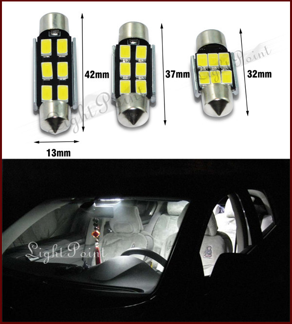 guang dian 10pcs 39mm samsung 5730 6smd car auto interior led light white festoon dome lamp bulb. Black Bedroom Furniture Sets. Home Design Ideas