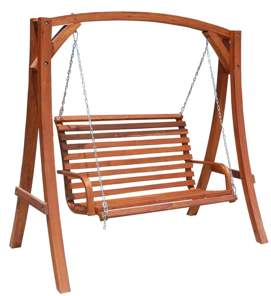 Solid Hardwood Outdoor Wooden Hanging Chair,Swinging Chair,Timber ...