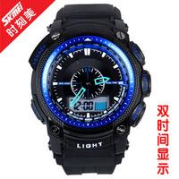 солнечной энергии энергии 100m водонепроницаемый digtal спортивные часы