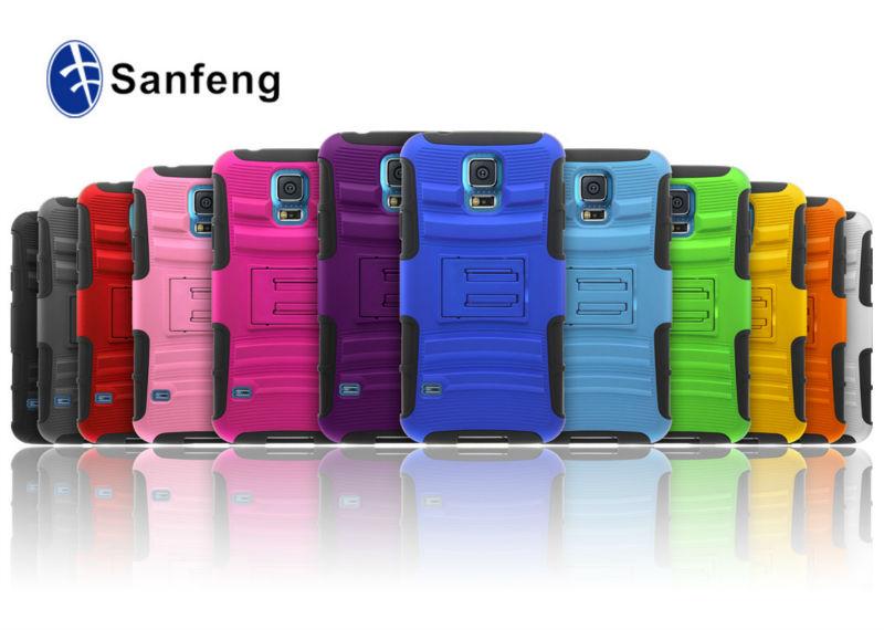Завод сделать много цвет и низкая MOQ доступны аксессуары новое поступление форма для Samsung Galaxy s5 чехол ремень клип подставка чехол