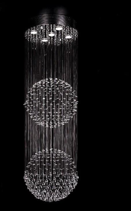 Купить Махрово современная хрустальная люстра потолочный светильник глобальный кристалл кулон свет для лестницы, Sy3051 / D500MM H1500MM