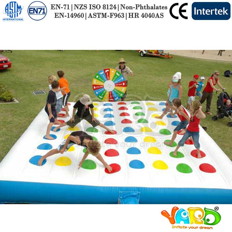 Fun gonflable twister jeu pour adultes et enfants autres - Jeux de plein air adulte ...
