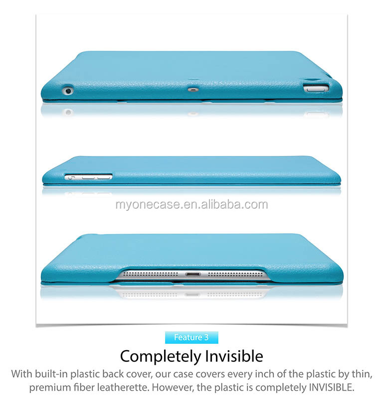 for iPad Air smart cover PU smart shell