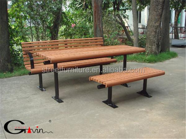 Jardin en bois 2 de si ge de banc avec table banc de bois for Bank exterieur d algerie
