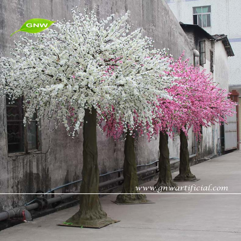 Bls015 1 gnw 14ft large outdoor artificial trees cherry for Artificial trees for decoration